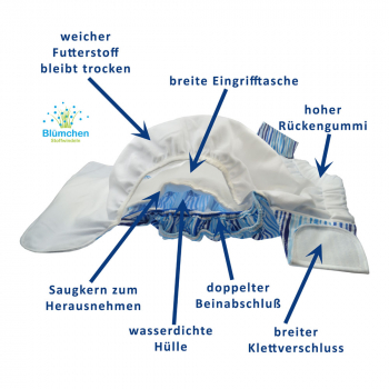 Blümchen Adult/ Junior diaper Flamingo