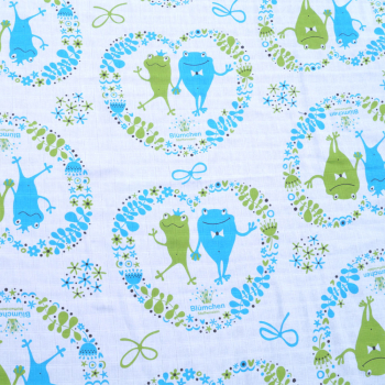 Blümchen waddle blanket 120x120cm Organic Cotton (Pack of 2)