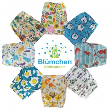Blümchen diaper cover OneSize (3,5-16kg) Snap limited Edition