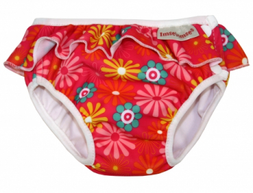 ImseVimse swim diaper Pink Daisy with frill