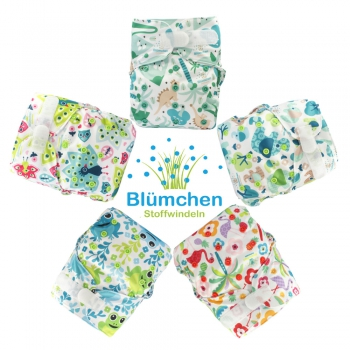 Blümchen Kletter All-in-One V2 Windel gemustert (3-16kg)