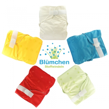 Blümchen Kletter All-in-One V2 Windel unifarben (3-16kg) 2. Wahl