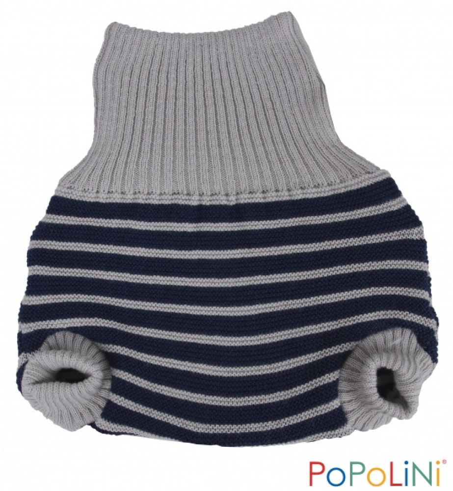 Popolini Wool-Pullup (2-layer) blue-grey