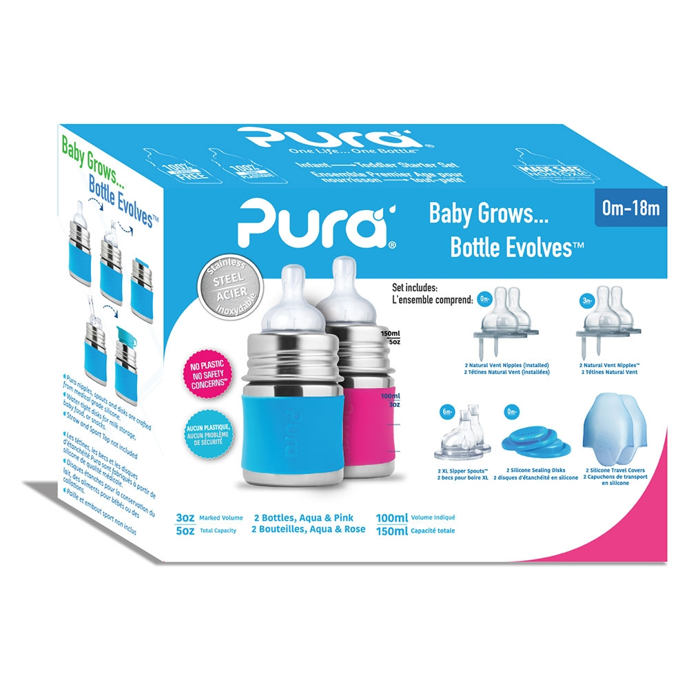 Purakikki Stainless steel gift box  Baby bottle 150ml