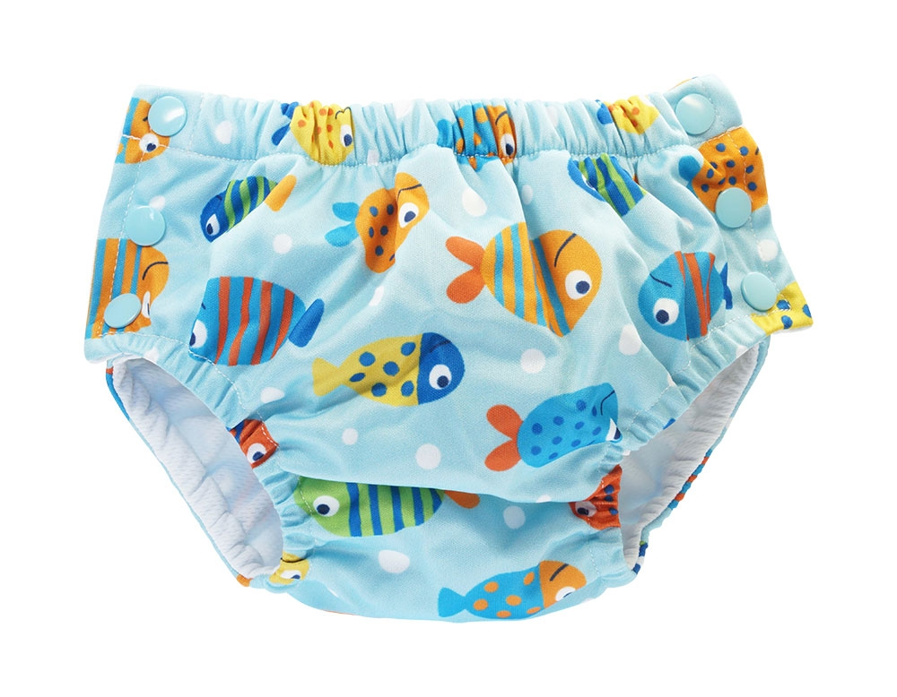 Blümchen swim diaper V2 colourful fishes