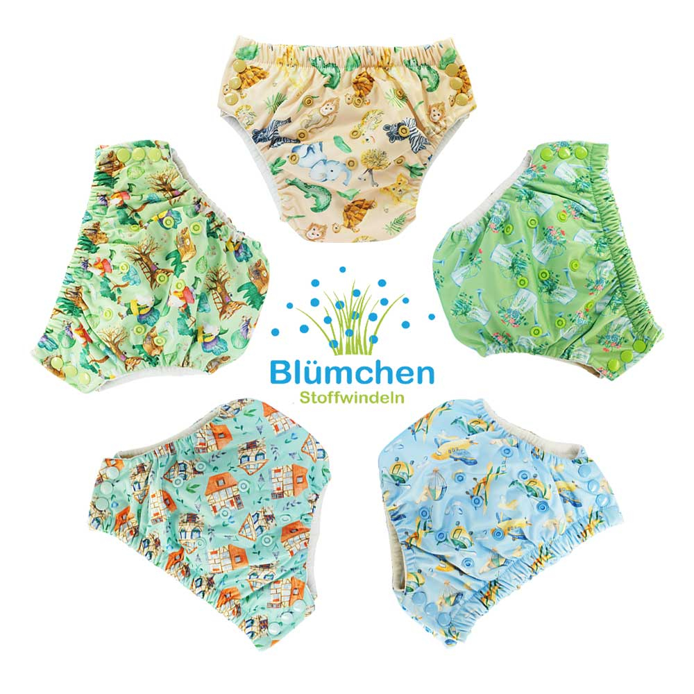 Blümchen training pant bamboo (3-5 Years) watercolor collection