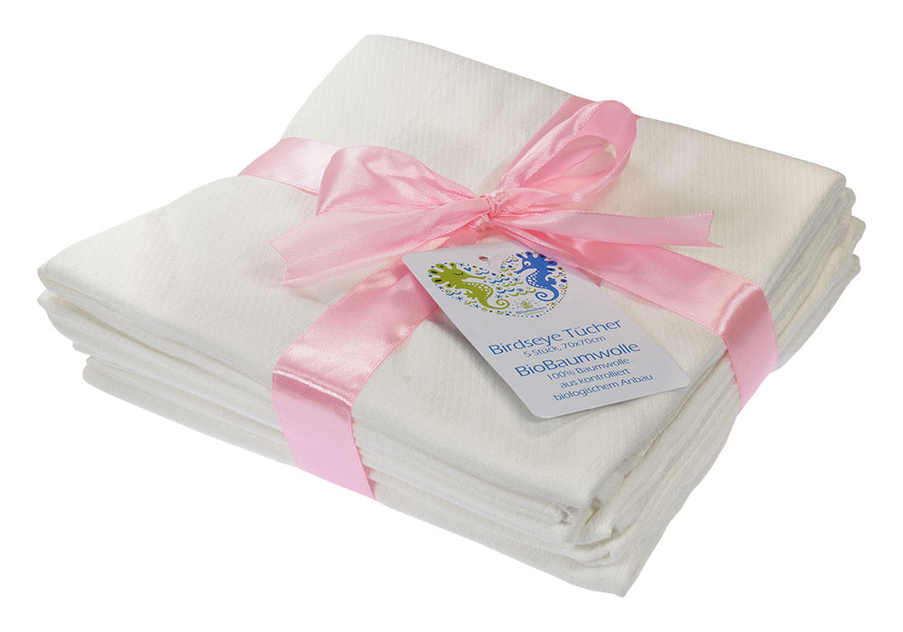 Blümchen birdseye towels 70x70cm Organic Cotton (Pack of 5)