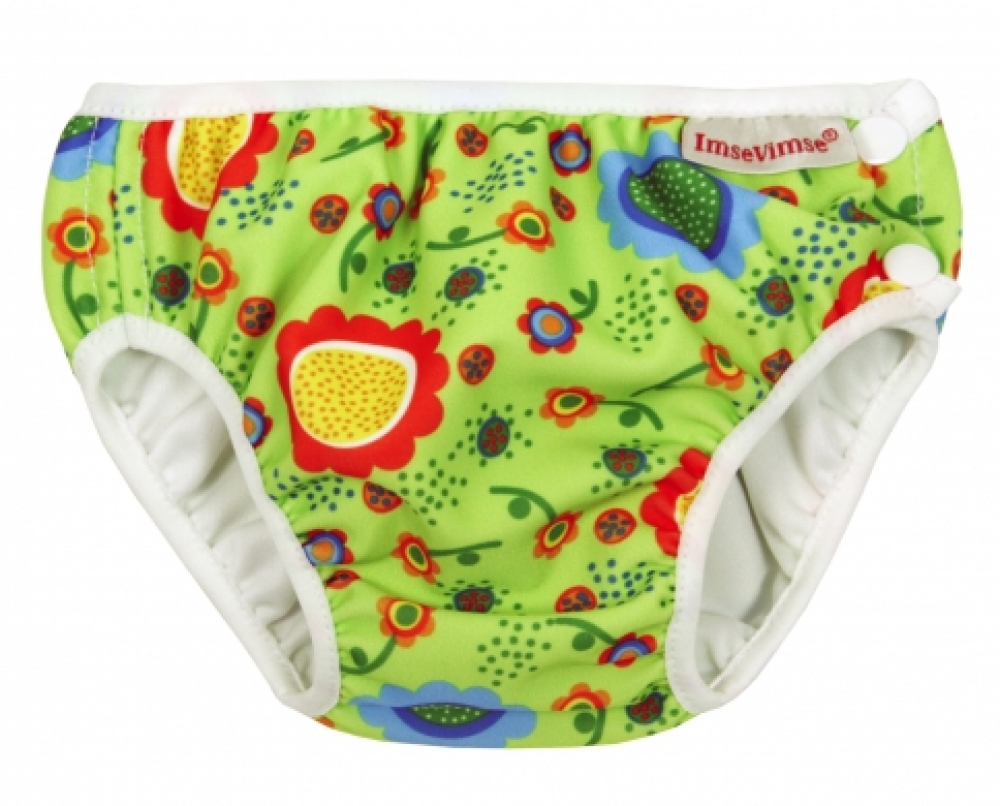 ImseVimse swim diaper Green Flower