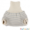 Popolini Wool-Pullup (2-layer) grey/offwhite