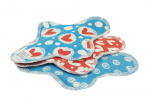 Blümchen waterproof panty liner Organic Cotton Jersey 3pcs. Heart + Dots
