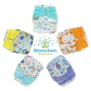 Blümchen All-in-One Bamboo diaper (3,5-15kg) Snap