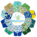 Blümchen All-in-One Bamboo diaper (3,5-15kg) Snap watercolor collection