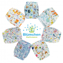 Blümchen Pocket diaper V2 Snap Designs (3-16kg)