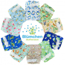 Blümchen diaper cover OneSize (3,5-16kg) Hook and Loop watercolor collection