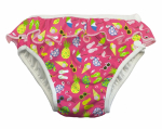 ImseVimse swim diaper Pink Beach life with frill