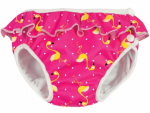ImseVimse swim diaper Pink Flamingo with frill