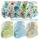 Blümchen diaper cover OneSize (3,5-16kg) Hook and Loop
