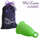 MeLuna Menstrual Cup with ring size L - green
