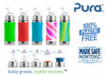 Purakikki Stainless steel Straw bottle 300ml