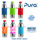 Pura Stainless steel Sport bottle 800ml Sleeve